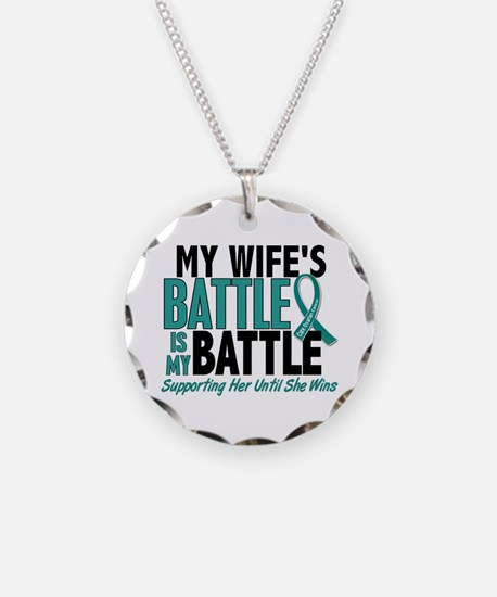 My Battle Too Ovarian Cancer Necklace