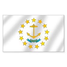 Rhode Island Flag Bumper Stickers