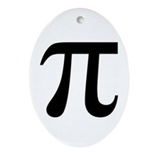 Pi Ornament (Oval)