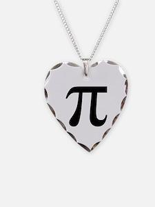 Pi Necklace Heart Charm