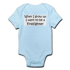 Grow Up Firefighter Infant Creeper
