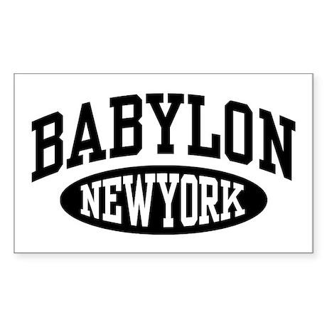 Babylon NY Sticker (Rectangle)