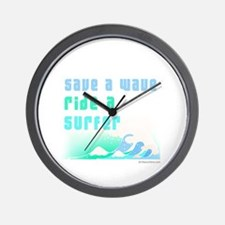 Save a wave -  Wall Clock