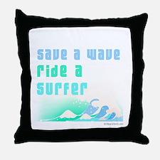 Save a wave -  Throw Pillow