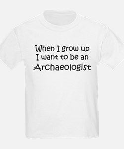 Grow Up Archaeologist Kids T-Shirt