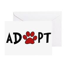 Adopt - Paw Greeting Card