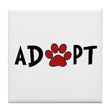 Adopt - Paw Tile Coaster