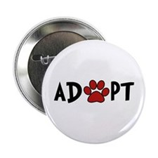"Adopt - Paw 2.25"" Button (100 pack)"