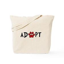 Adopt - Paw Tote Bag