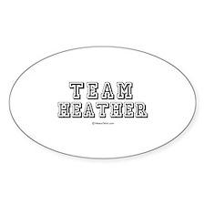 Team Heather - Oval Decal