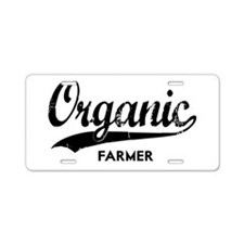 ORGANIC FARMER Aluminum License Plate