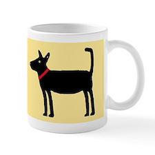 Dan The Black Dog Small Mugs