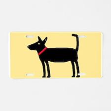 Dan The Black Dog Aluminum License Plate