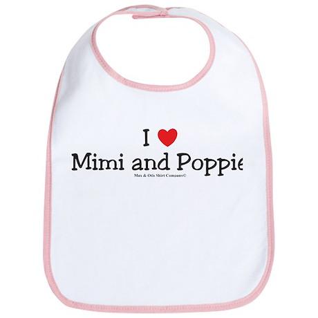 I Love Mimi and Poppie Bib