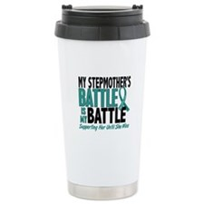 My Battle Too Ovarian Cancer Travel Mug