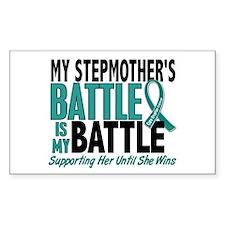 My Battle Too Ovarian Cancer Decal
