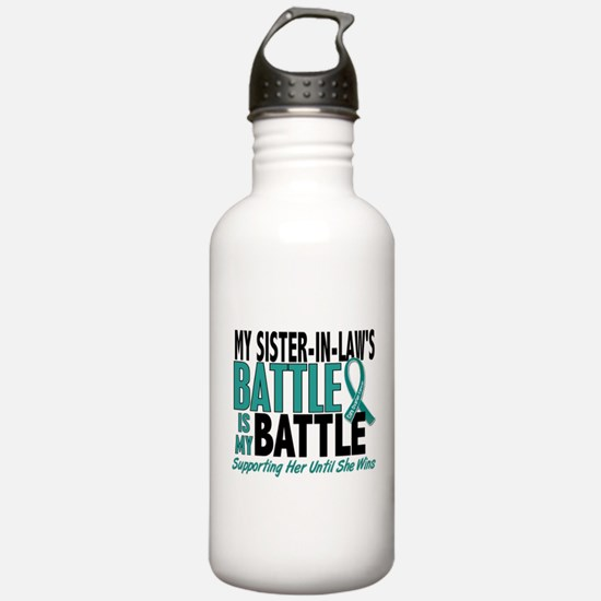 My Battle Too Ovarian Cancer Sports Water Bottle