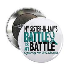 "My Battle Too Ovarian Cancer 2.25"" Button"