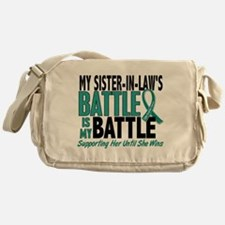 My Battle Too Ovarian Cancer Messenger Bag