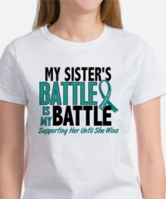 My Battle Too Ovarian Cancer Women's T-Shirt