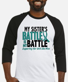My Battle Too Ovarian Cancer Baseball Jersey