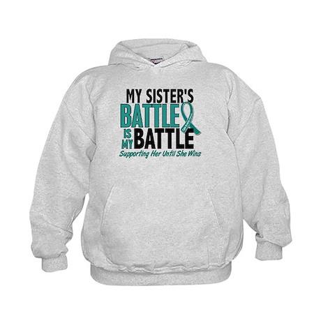 My Battle Too Ovarian Cancer Kids Hoodie