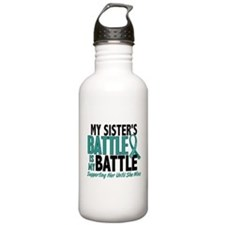 My Battle Too Ovarian Cancer Water Bottle
