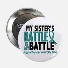 "My Battle Too Ovarian Cancer 2.25"" Button"