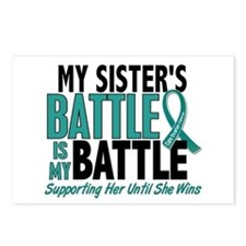 My Battle Too Ovarian Cancer Postcards (Package of