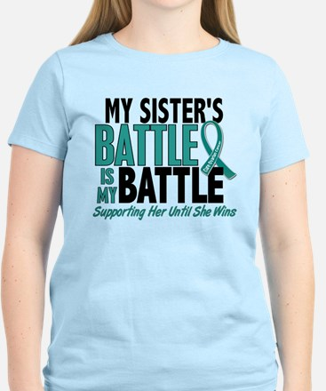 My Battle Too Ovarian Cancer Women's Light T-Shirt