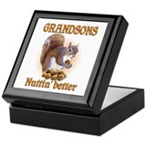 Grandson Square Keepsake Boxes