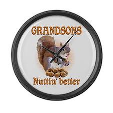 Grandsons Large Wall Clock