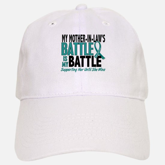 My Battle Too Ovarian Cancer Baseball Baseball Cap