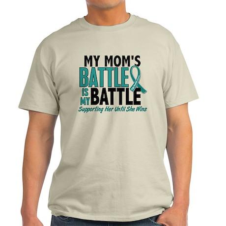 My Battle Too Ovarian Cancer Light T-Shirt