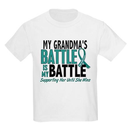 My Battle Too Ovarian Cancer Kids Light T-Shirt