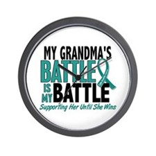 My Battle Too Ovarian Cancer Wall Clock
