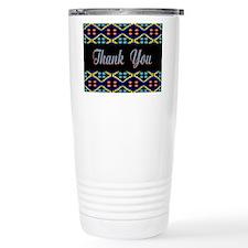 Blue Thank You Polka Dots Travel Mug