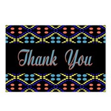 Blue Thank You Polka Dots Postcards (Package of 8)