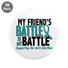 "My Battle Too Ovarian Cancer 3.5"" Button (10 pack)"