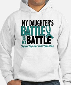 My Battle Too Ovarian Cancer Hoodie