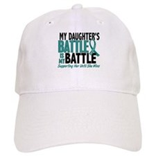 My Battle Too Ovarian Cancer Baseball Cap