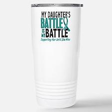My Battle Too Ovarian Cancer Travel Mug
