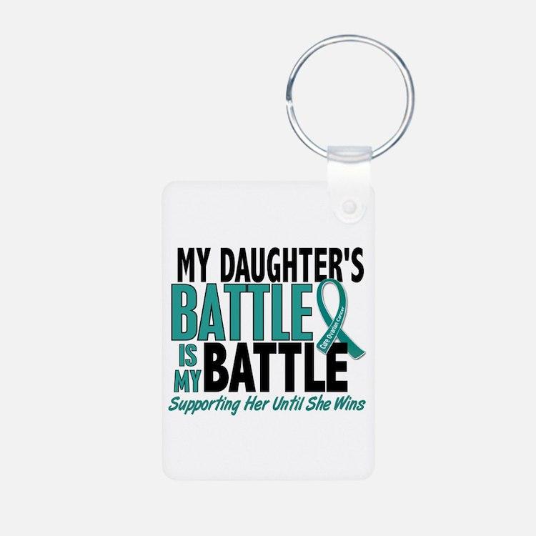My Battle Too Ovarian Cancer Keychains