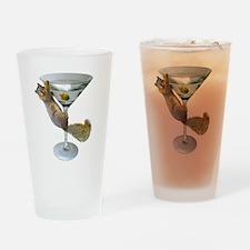 Martini Squirrel Drinking Glass