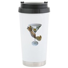 Martini Squirrel Travel Coffee Mug