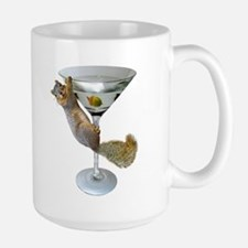 Martini Squirrel Large Mug