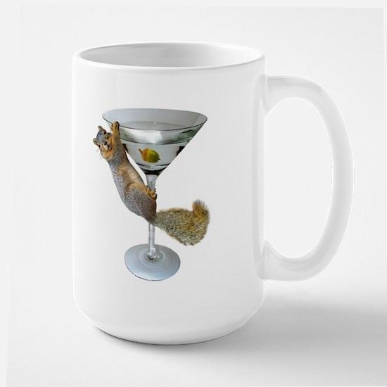 Martini Squirrel Large Mug