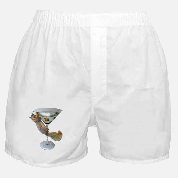 Martini Squirrel Boxer Shorts