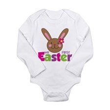 Girl Easter Bunny 1st Easter Long Sleeve Infant Bo