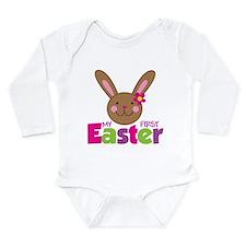Girl Easter Bunny 1st Easter Onesie Romper Suit